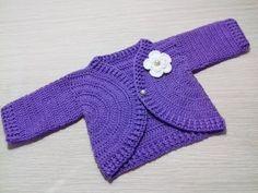 Como tejer saquito, suéter, chaqueta, chambrita para bebe en crochet... - YouTube