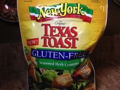 Gluten Free Product Review - New York Brand Texas Toast Gluten Free Seasoned Herb Croutons http://wp.me/p2TQ6B-MN