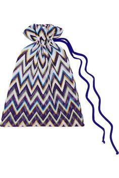 Missoni - Mare Metallic Crochet-knit Bandeau Bikini - Purple - IT42