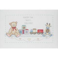 Amazon.com: The range toy shelf birth record cross stitch kit: Arts, Crafts & Sewing