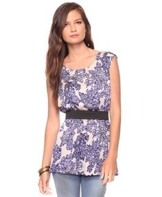 Floral Satin Top w/ Belt - New Arrivals - Apparel - Tops - 2074201372 - Forever21 - StyleSays