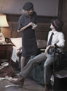 Harper's Bazaar - Bonnie and Clyde - Polka dots!