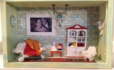 A dining room in a box, a great personalized present with Tutorial.
