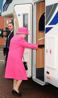 Queen travels in a motorhome for the first time