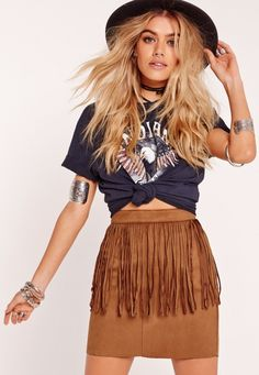 Festival Outfit Giddy up with these Calgary Stampede style picks that are perfect for taking in . Giddy up with these Calgary Stampede style picks that are perfect for taking in the festivities or unleashing your country-lovin& cowgirl. Stampede Outfit, Country Style Outfits, Southern Outfits, Country Wear, Suede Fringe Skirt, Suede Mini Skirt, Edgy Outfits, Skirt Outfits, Fashion Outfits