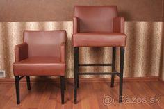 Koženné barové stoličky - vysoké aj nízke - 1