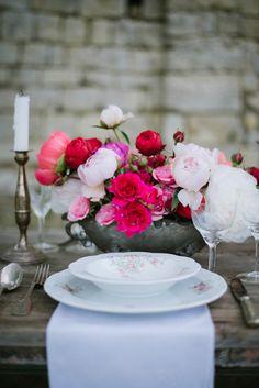 Garden floral tablescape