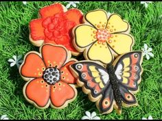 Cookie decorating tutorial - Color flow butterfly
