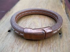 Regalize Leather Bracelet Licorice Leather by HighsmithStudio, $34.95