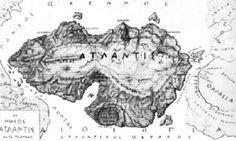 Atlantída, údajná mapa