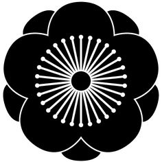 Japanese family symbol Plum flower