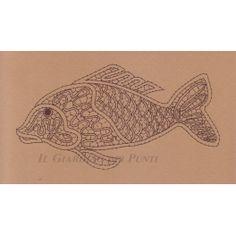 Disegno Carpa n. 130 Pisces Constellation, Bobbin Lacemaking, Bobbin Lace Patterns, Irish Crochet, String Art, Constellations, Tatting, Vintage World Maps, Drawings