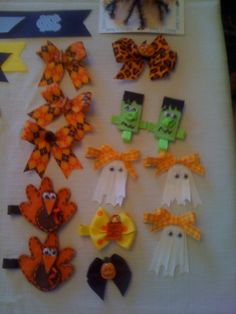 Halloween Hair Bow Collection Handmade by Robin's Nest