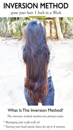 Inversion Method – grow your hair 1 Inch in a Week Hair growth, is a matter of concern to all of us, if not now then we may have had the concern before or will have in future. The issue is inevitable at some stage of […] Vitamins For Hair Growth, Healthy Hair Growth, Hair Growth Treatment, Hair Growth Oil, Hair Treatments, Extreme Hair, Natural Hair Styles, Long Hair Styles, Hair Remedies