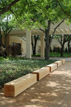 Garden Design Ideas : simple. block benches
