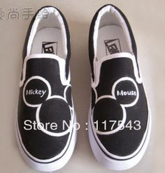 Mickey Mouse Black Hand Painted Canvas-in Women's Fashion Sneakers from Shoes on Aliexpress.com   Alibaba Group