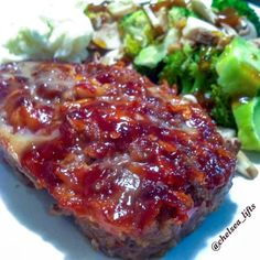 Ripped Recipes - Chipotle Bbq Meatloaf - A sirloin based meatloaf so it is a higher quality of meat with more protein and less fat. Another great aspect of this dish is my signature BBQ sauce that I make from scratch and heavily spread on top of the loaf for added flavor and juiciness!