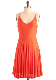 the perfect, simple, orange dress