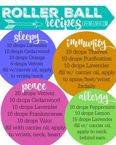 Must Have Essential Oil Roller Ball Recipes for your Family
