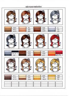 Various skin colours I use, depending on the subject of course.         Here is the page that I have created to use as a sample page fo...