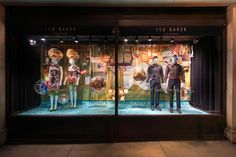 Ted Baker SS15 windows - Regent St. MA creates an underwater world for Ted Baker, using sculpted hair and clever styling. #TedBaker #VM #retailwindows