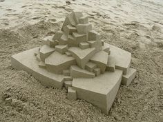 Professional Sand Castles by Calvin Seibert #Geometric #Sculpture #Architecture