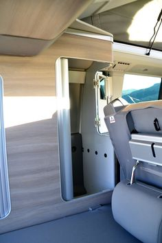 VW California wardrobe - view from the rear