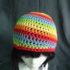 Ravelry: Six-Color RAINBOW Spiral-Stripe Beanie - Toddler-Child pattern by Brieshon D'Agostini