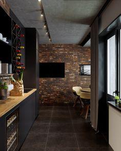 Cette cuisine avec coin repas dans un loft est celle de nos rêves - PLANETE DECO a homes world Interior Design Career, Home Interior, Kitchen Interior, Cheap Office Decor, Beton Design, Appartement Design, Budget Home Decorating, Target Home Decor, Kitchen Layout