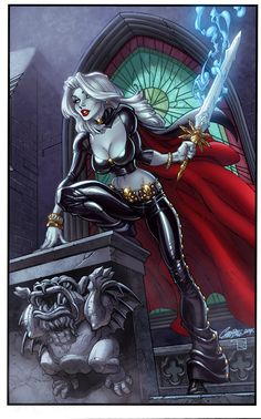 Lady Death by J. Scott Campbell, colours by Brian Pulido *