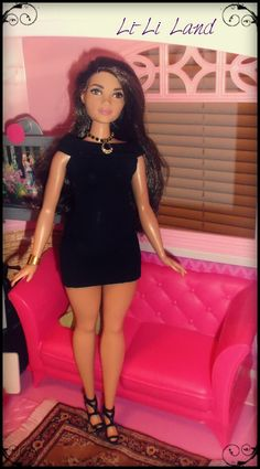 https://flic.kr/p/HZ9GLK | Party Look | I love the curvy body and find clothes for her is a fun challenge!  Clothes that stretch work well for her and I was happy to see that the more rubbery Barbie shoes can fit!