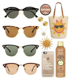 """""""Sun"""" by emmaraej on Polyvore featuring Ray-Ban, Style & Co., Sun Bum, Chanel, Casetify, Allurez and Diane Griswold Johnston"""