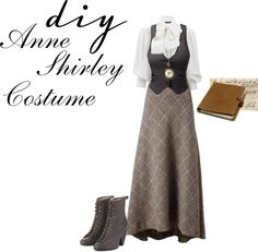 """An Anne Shirley costume! From """"Anne of Green Gables"""". Edwardian Fashion, Vintage Fashion, Modern Victorian Fashion, Vintage Inspired Outfits, Vintage Outfits, Dandy Look, Anne Shirley, Look Vintage, Historical Clothing"""