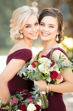 Trends We Love: Mixed Berry Bridal Parties - Pretty Happy Love - Wedding Blog | Essense Designs Wedding Dresses