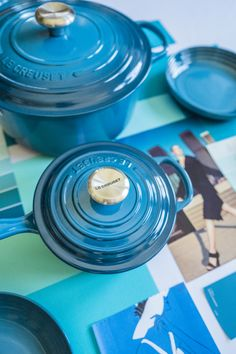 Le Creuset Colors: Deep Teal, Nectar and Flame. 🌈 Which hue is at the top of your wish list this year? 📸: Instagram @splendid_rags Le Creuset Colors, Deep Teal, Hue, Kitchen, Shopping, Instagram, Cooking, Kitchens, Cuisine