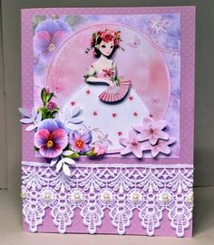 Card Gallery - Butterfly Garden Lady Mini Kit
