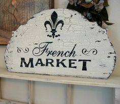 cricut projects with vinyl | Cricut Vinyl Projects ~ / French Market sign