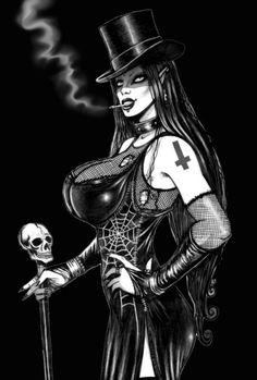 ☆ Gothic Women in Tophat -:¦:- Artist Marcus Jones ☆