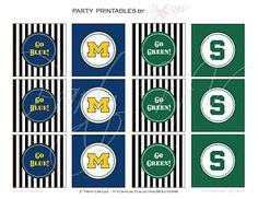 Party NV: {Freebie Friday} Michigan State vs. Michigan Printables