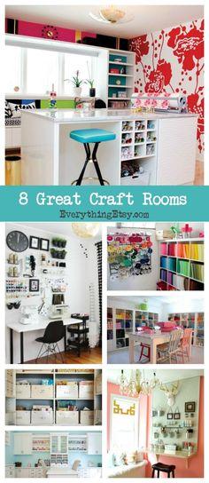 da3b5d0e6 8 Craft Rooms That Inspire - EverythingEtsy.com Organizadores, Taller,  Escritorios, Costura