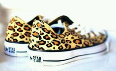 Leopard prints, All Star Converse shoes