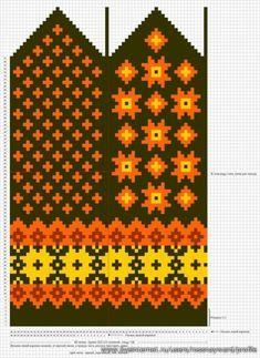 Krāsaini cimdu raksti - Rokdarbu grāmatas un dažādas shēmas - draugiem. Knitted Mittens Pattern, Knit Mittens, Knitting Socks, Hand Knitting, Knitting Charts, Knitting Stitches, Knitting Patterns, Weaving Patterns, Craft Patterns