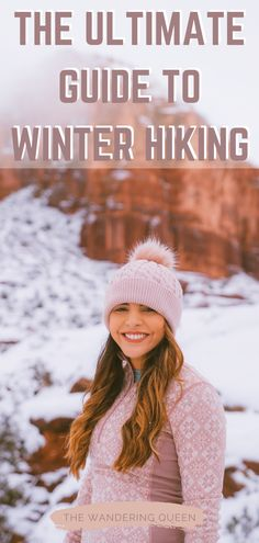 Click HERE to find out all about winter hiking gear and how to layer. This post is for women who love to be outdoors! I talk about winter boots, jackets, hats, backpacks and so much more! Be ready for hikes in the cold weather! winter hiking gear | what to wear hiking in winter | hiking clothes for winter | winter hiking clothes | winter hiking clothing | winter hiking outfit | hiking gears | what to wear for winter hiking | hiking clothes winter | snow hiking gear Hiking Tips, Hiking Gear, Hiking Spots, Winter Hiking, Winter Travel, Travel Hacks, Travel Packing, Travel Ideas, Best Travel Guides