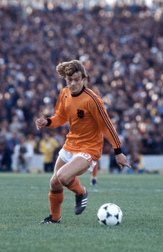 Johnny Rep in action for Holland during the FIFA World Cup match between West Germany and Holland in Cordoba, 18th June 1978. The match ended in a 2-2 draw. Get premium, high resolution news photos at Getty Images