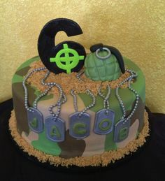 Call of Duty cake - Army cake  -- so cute for a little soldier