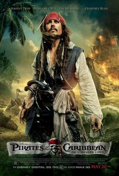 Pirates of the caribbean 4. Not the best one, but I like Jack Sparrow!