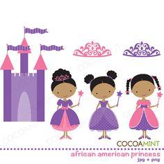 African American Princess Clip Art