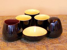 Mid Century Scandinavian Modern Atomic Ceramic Egg Cup Set? by EdibleComplex on Etsy (Beth), via Flickr