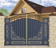 Iron Main Gate Design, Gate Wall Design, Grill Gate Design, House Main Gates Design, Steel Gate Design, Front Gate Design, Unique House Design, House Front Design, Fence Design