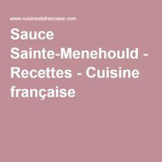 Sauce Sainte-Menehould - Recettes - Cuisine française